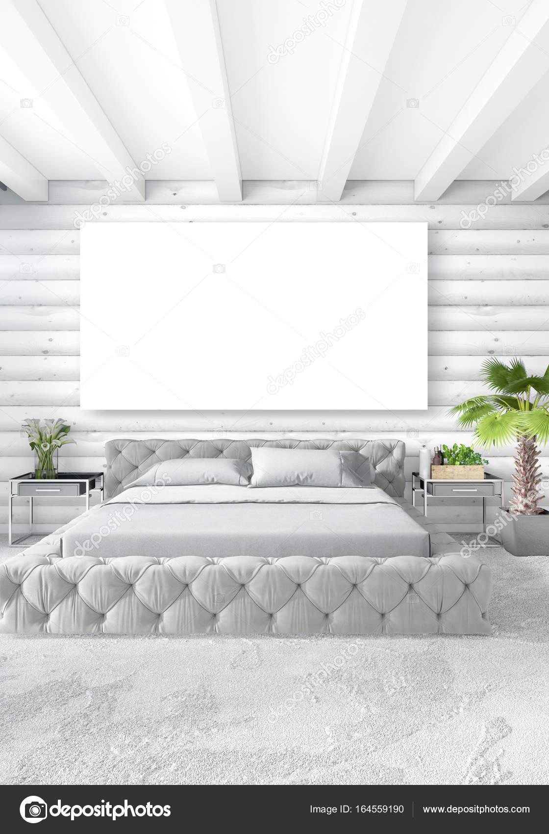 Stili Di Camere Da Letto stile minimal design con parete in legno e divano grigio di