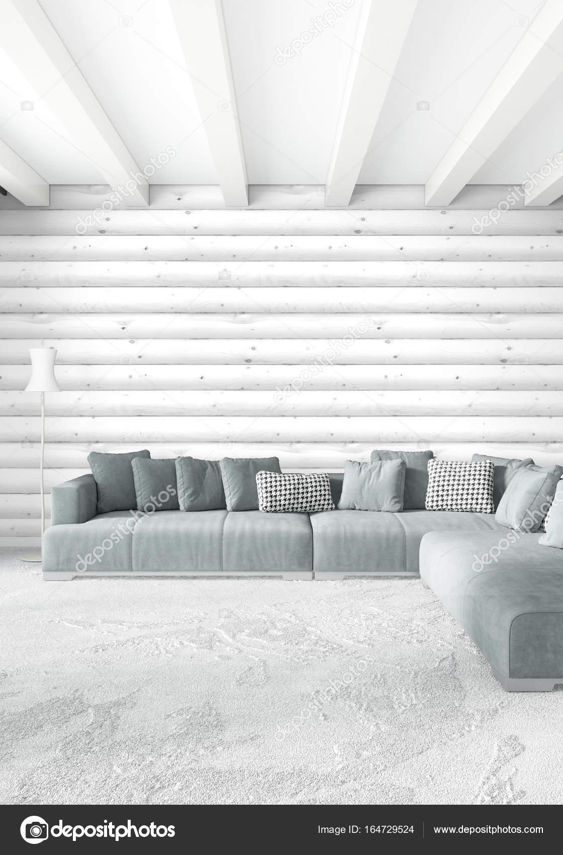 Chambre Blanche Et Bois style minimal de chambre blanche décoration murale bois et