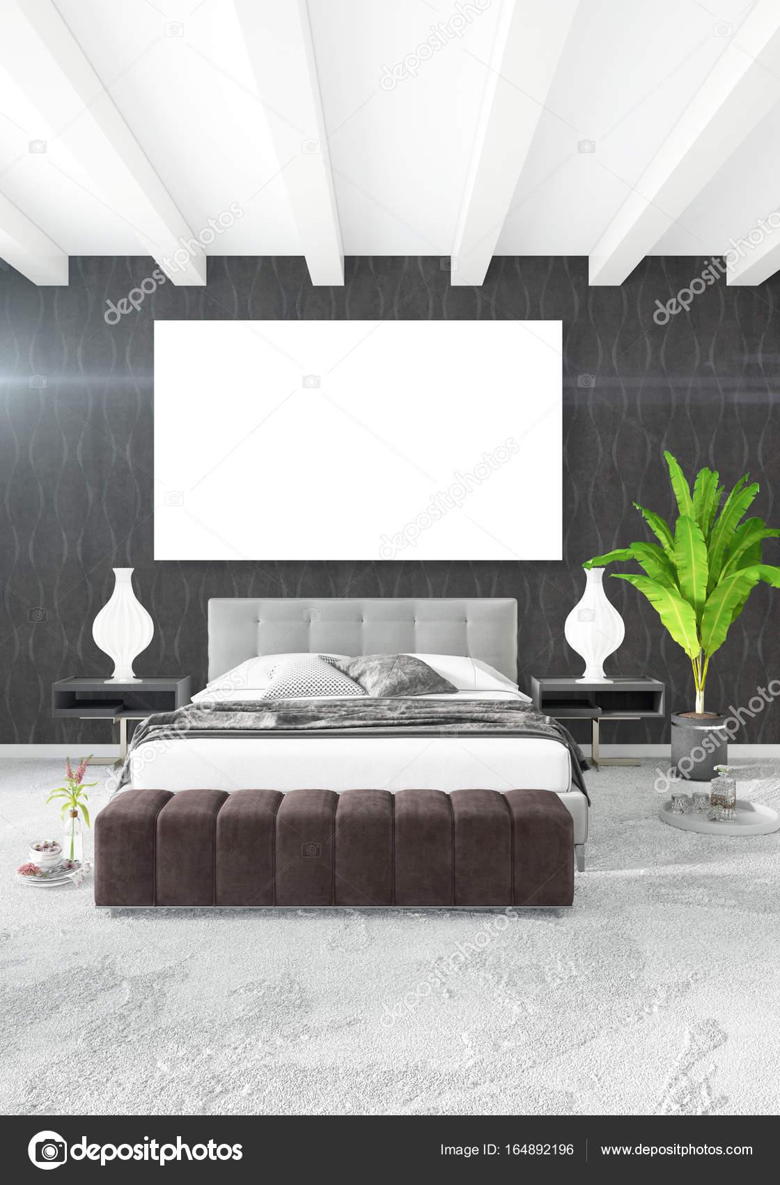 Verticale moderno interno camera da letto o soggiorno con ...