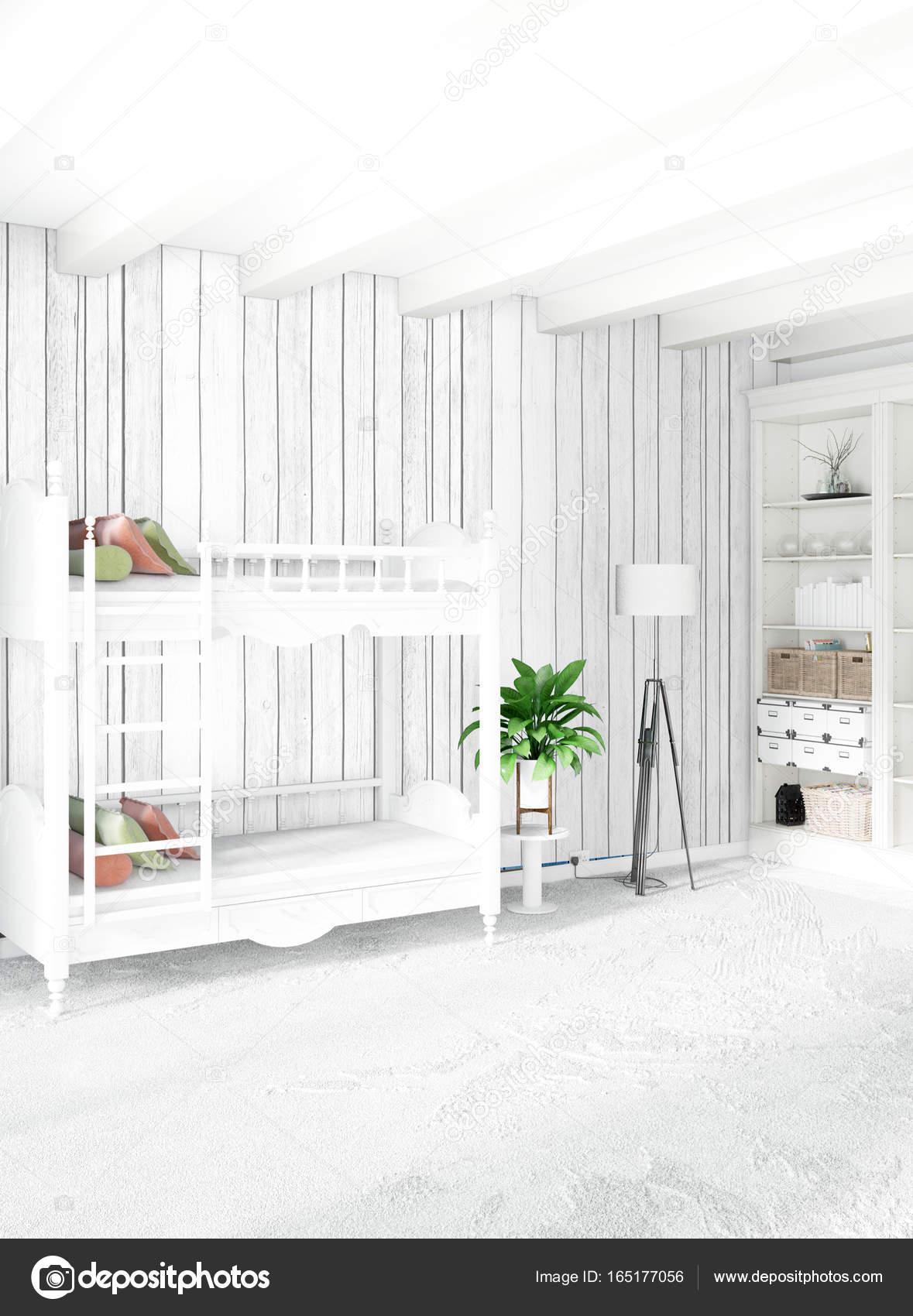 Chambre de bébé intérieur loft moderne ou pépinière avec paroi d ...