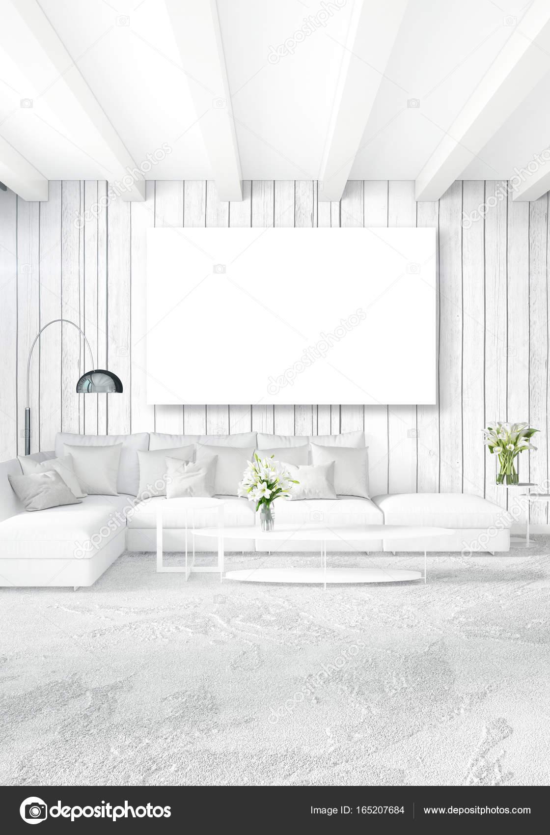 Vertikale modernen Interieur Schlafzimmer oder Wohnzimmer mit ...