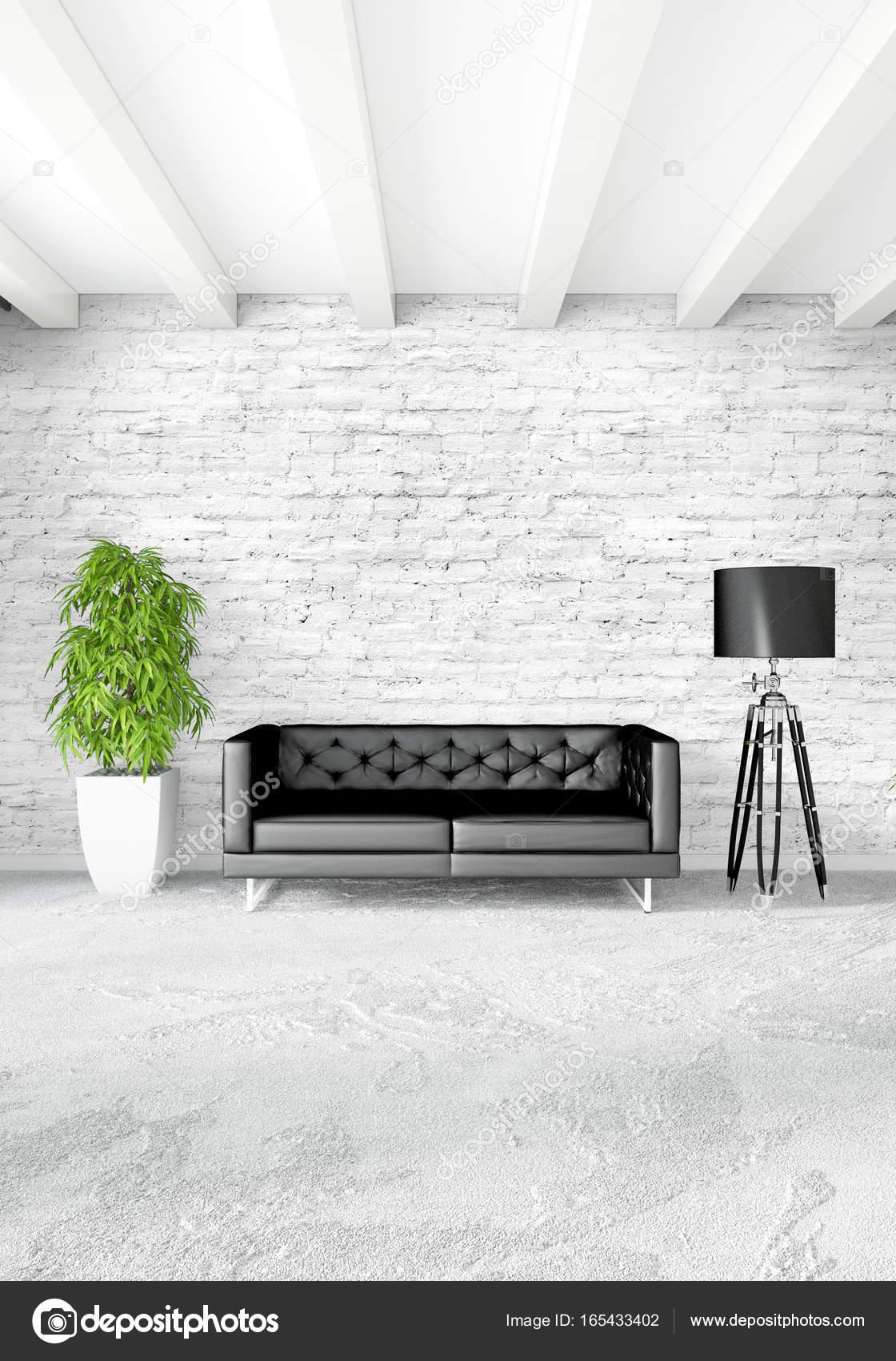 Innen moderne Loft-Schlafzimmer oder Wohnzimmer mit eklektischen ...