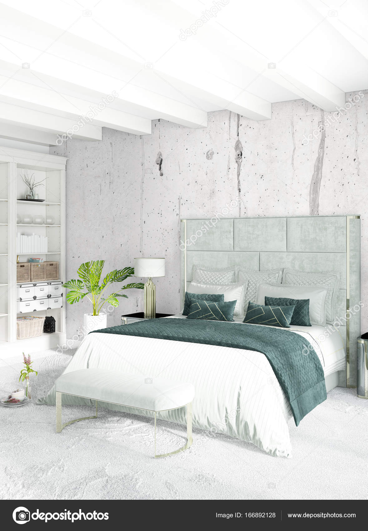 Schlafzimmer Minimalistisch | Weisse Schlafzimmer Minimalistischen Stil Raumgestaltung Mit Holz