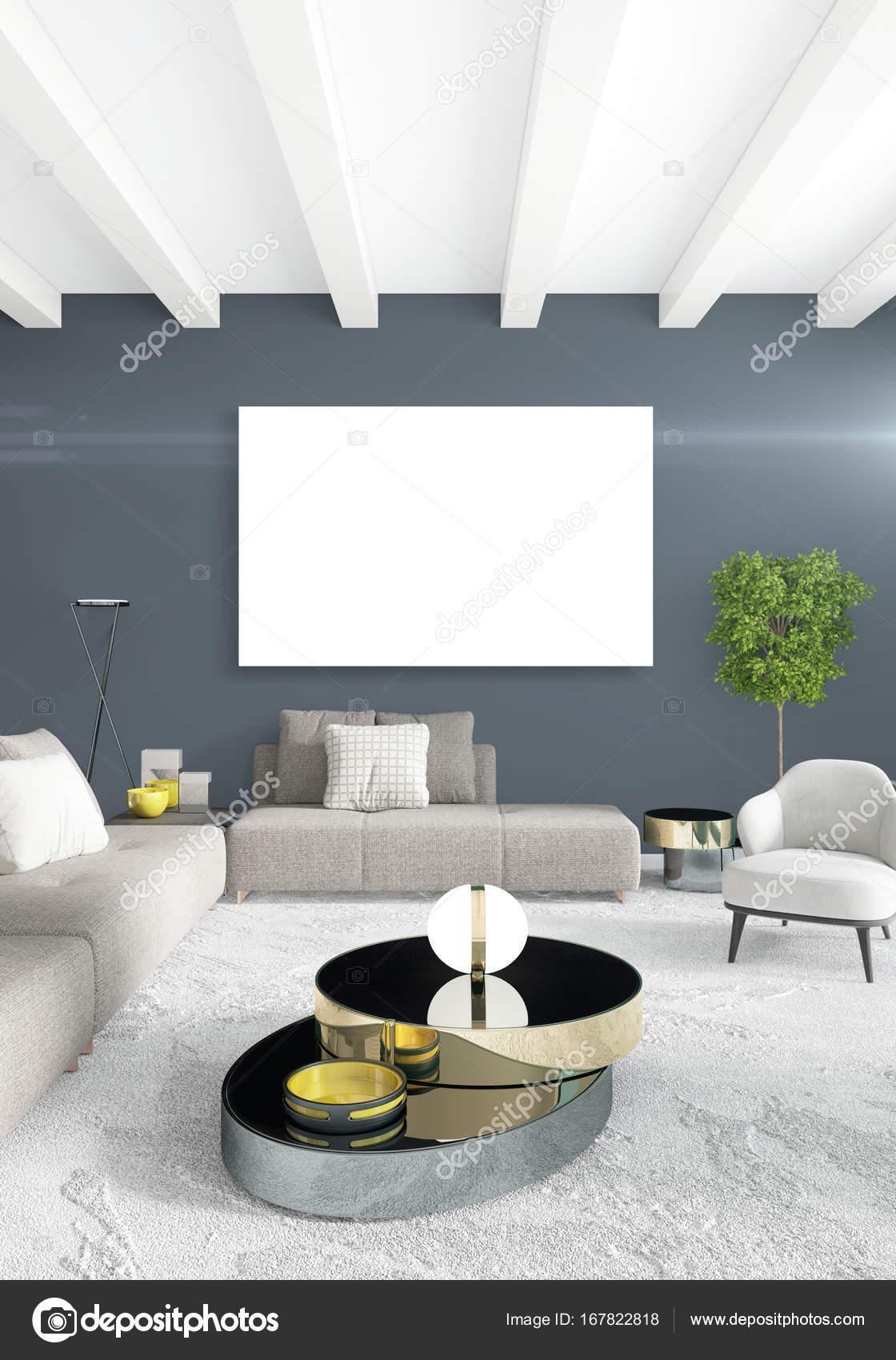 Sala de estar estilo minimalista blanco dormitorio o Diseno de interiores sala de estar