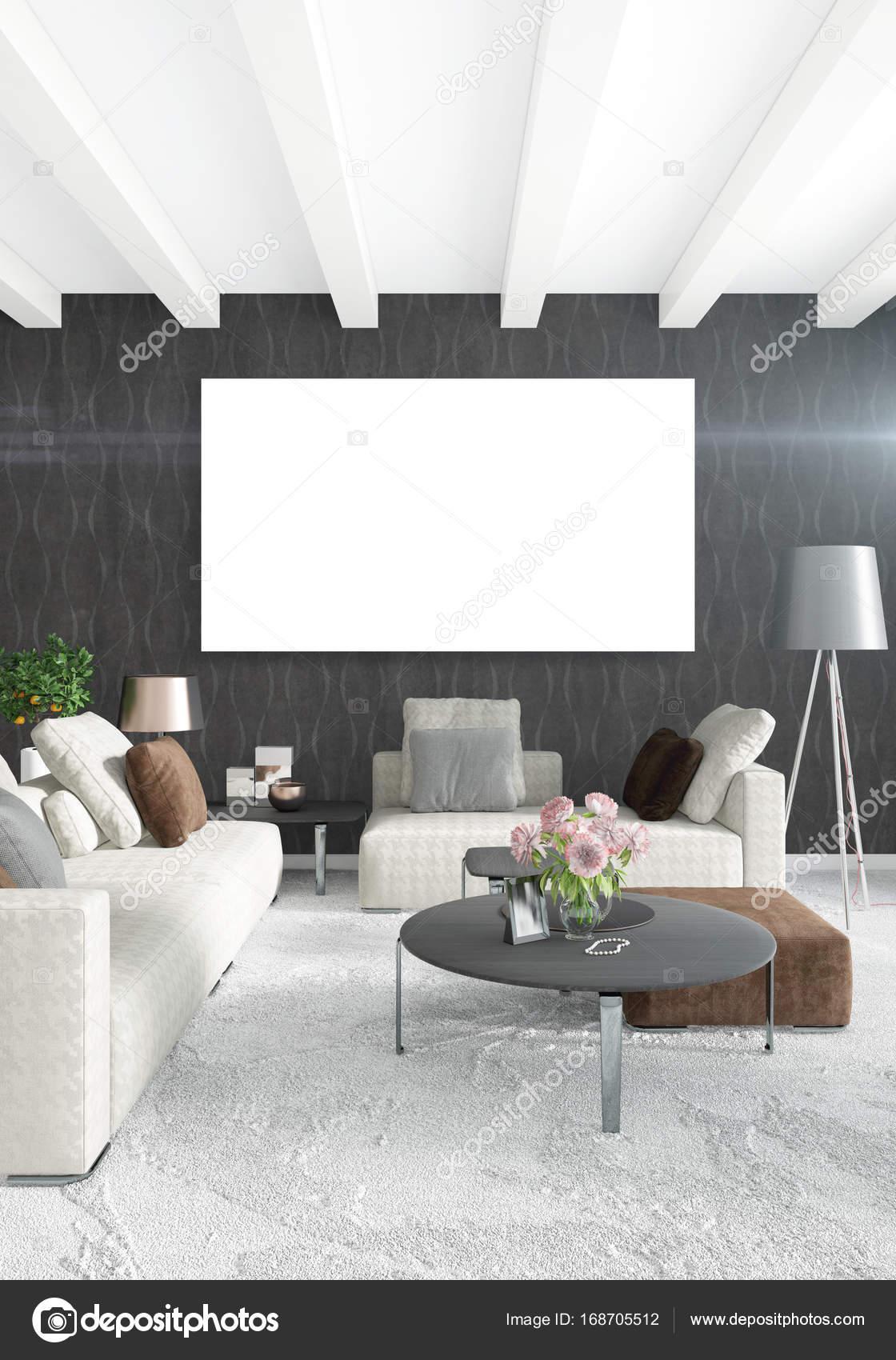 Soppalco con letto matrimoniale in stile moderno interior design con ...
