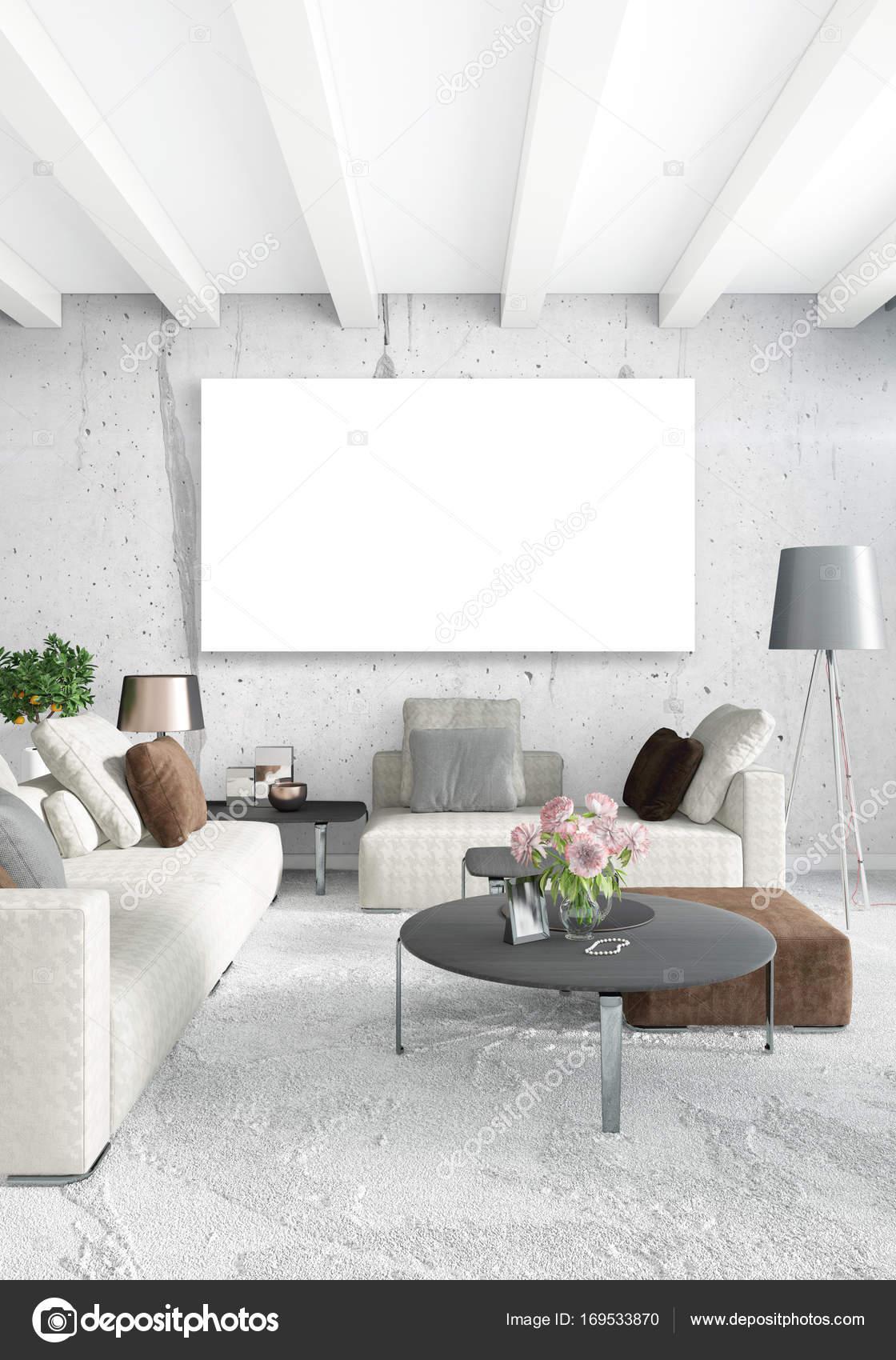 Loft-Schlafzimmer im modernen Stil Interior Design mit vielseitigen ...