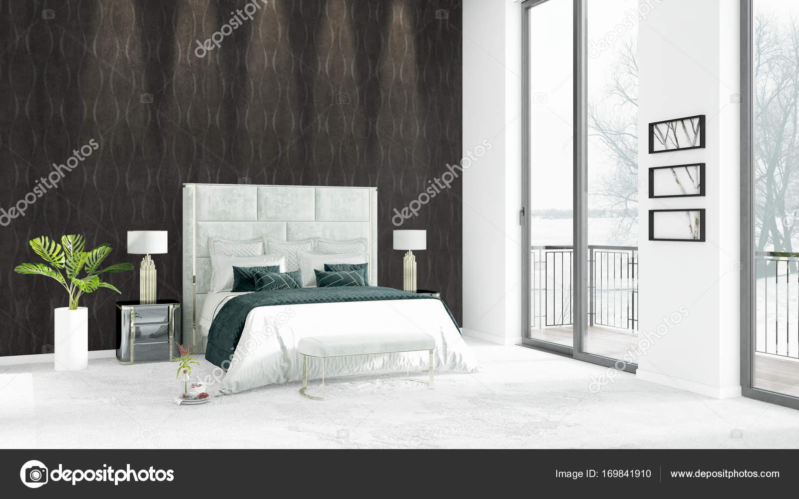 Camere Da Letto Stile Minimalista : Nuovissimo loft bianco camera da letto stile minimal design con