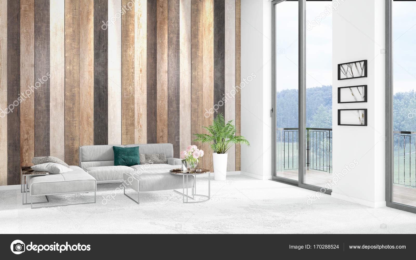 Gloednieuwe witte loft slaapkamer minimalistische stijl interieur