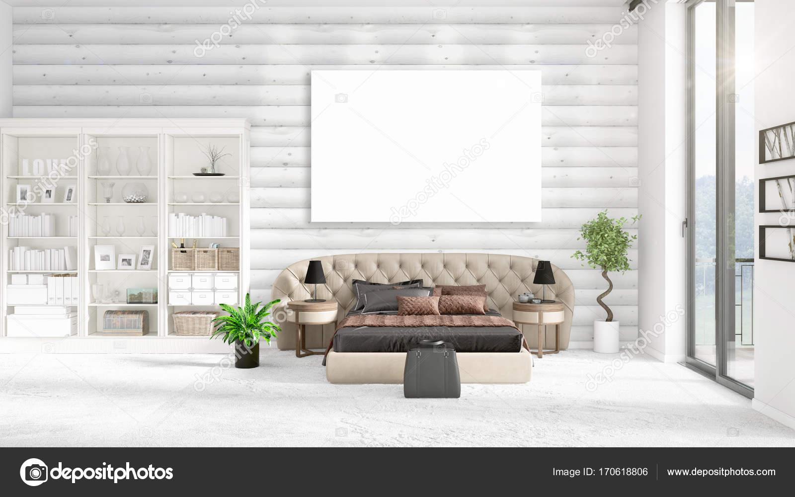 Intérieur du loft moderne à la mode avec bloc vide et fond en ...