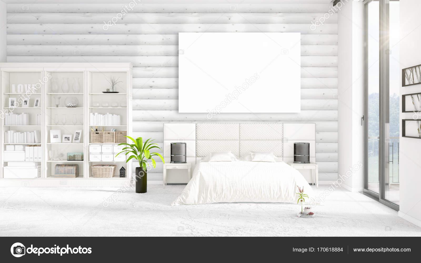 Modische moderne Loft Interieur mit leeren Rahmen und Exemplar in ...