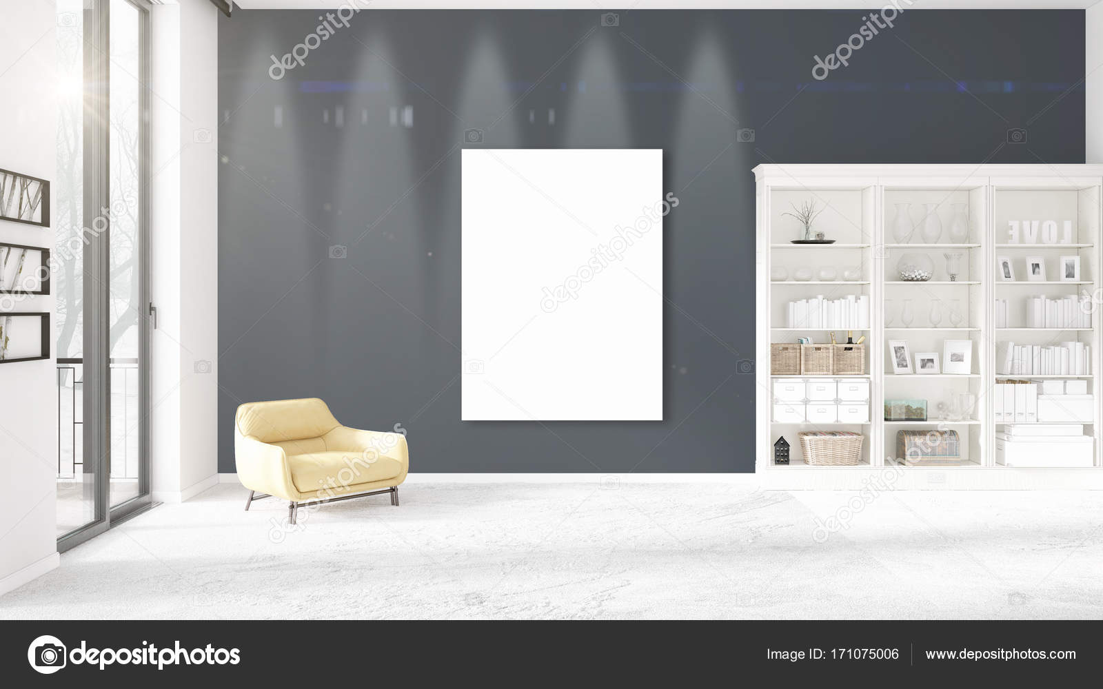 Décoration Moderne Avec Des Cadres Vides Verticaux Fond Belle Vue