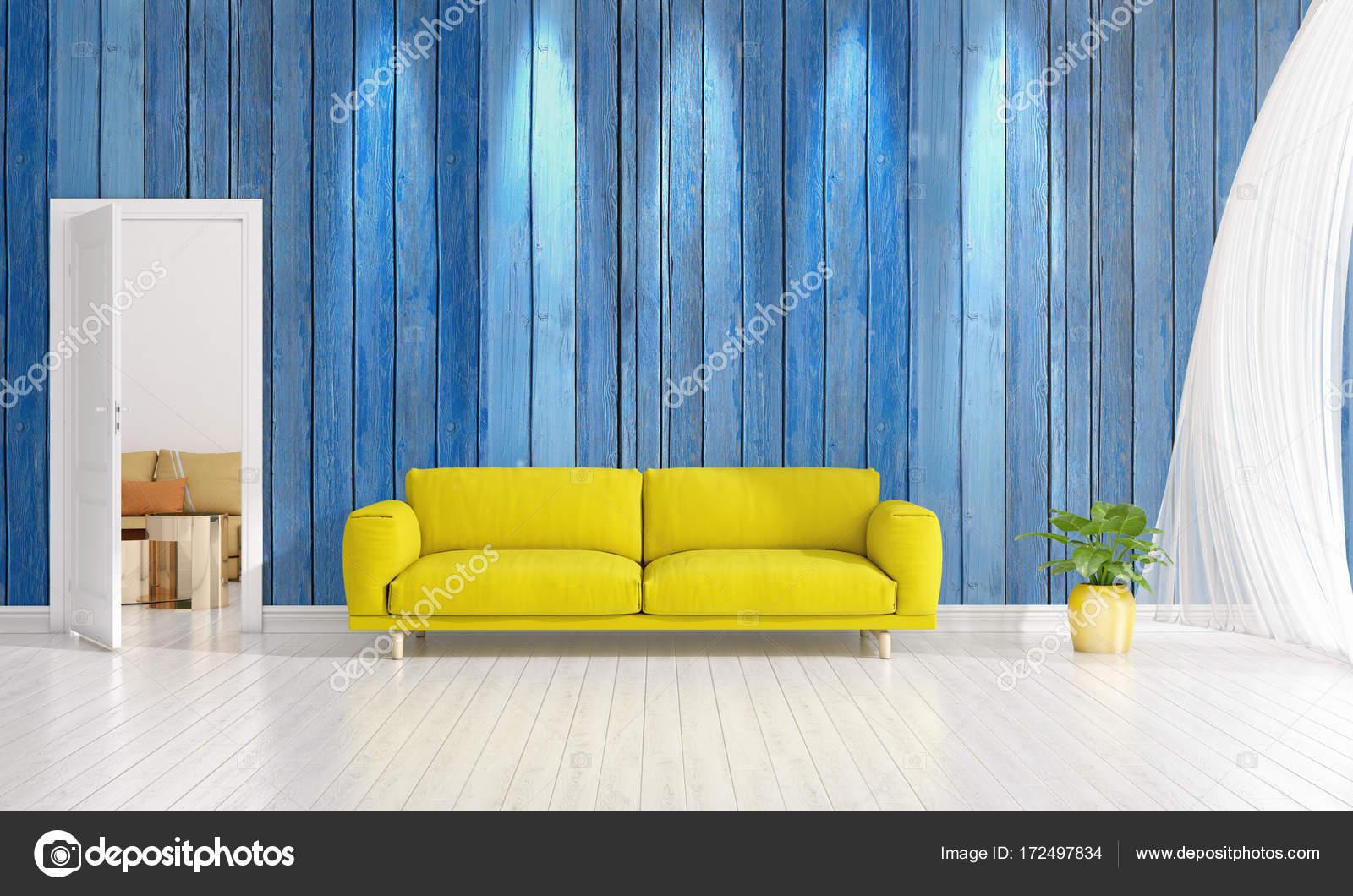 Moderne Innenarchitektur der Wohnzimmer in der Mode mit Pflanze ...