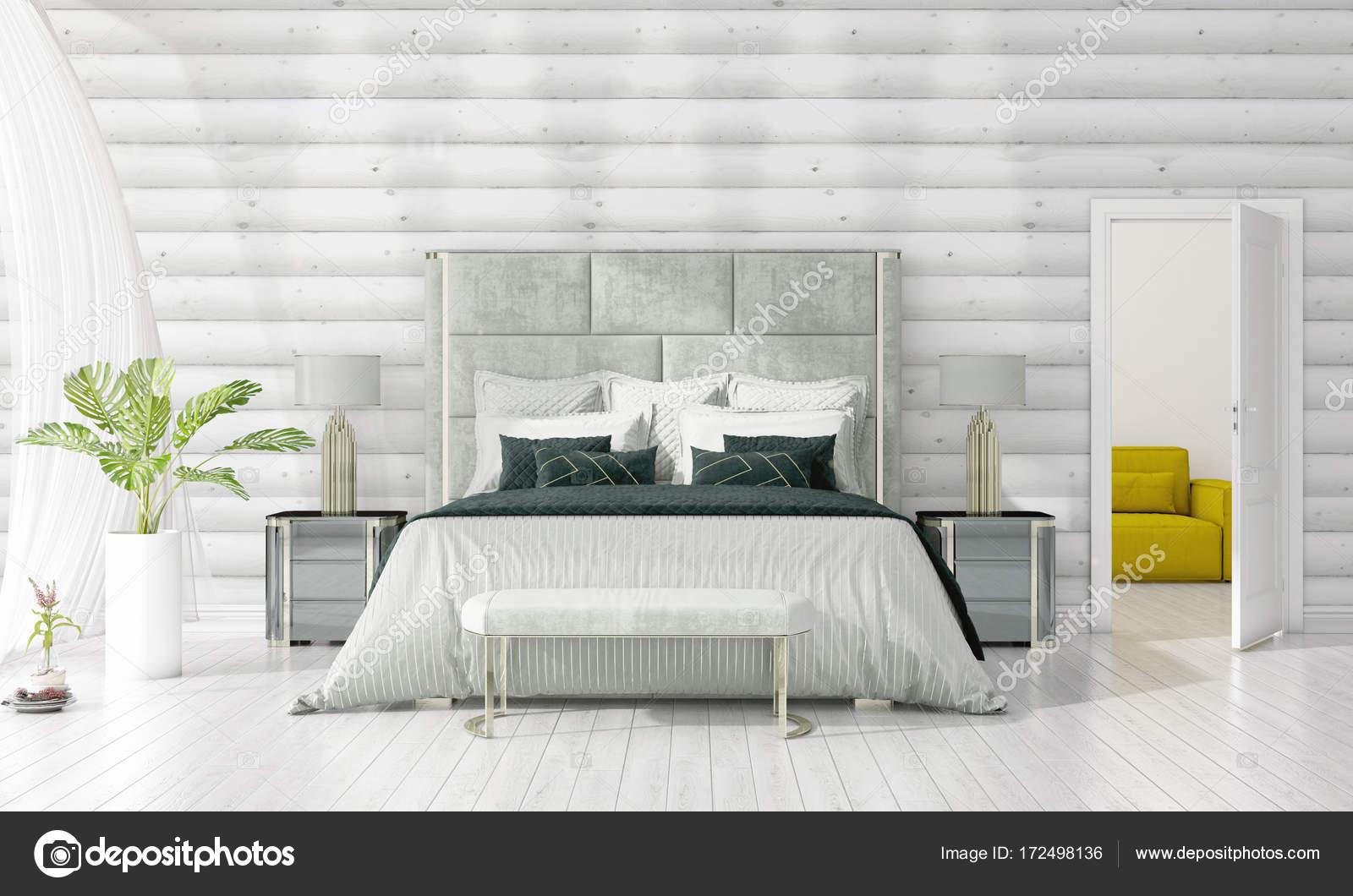 Arredamento moderno della camera da letto in voga con la ...
