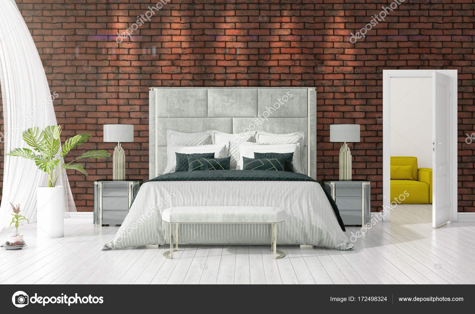 Inrichting Slaapkamer Modern : Interieur slaapkamer modern parksidetraceapartments