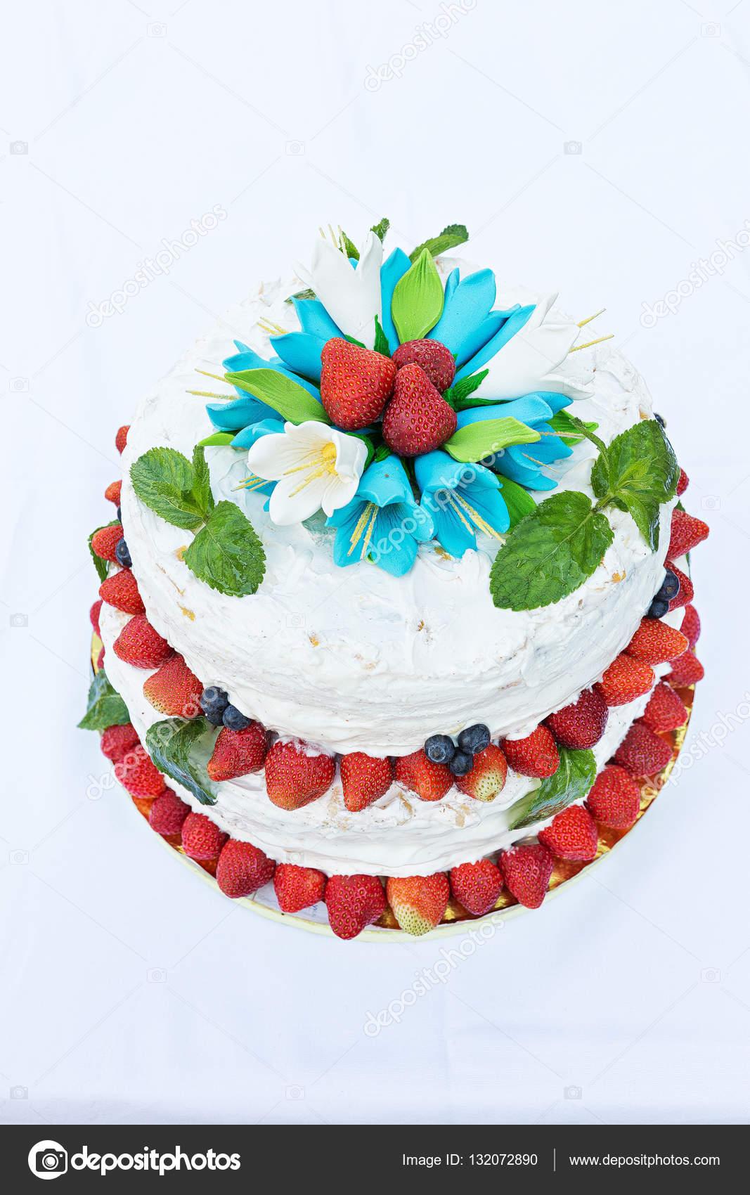 Wedding Cake With Fruit Stock Photo C Alexshyripa 132072890