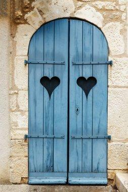 old shutters on windows