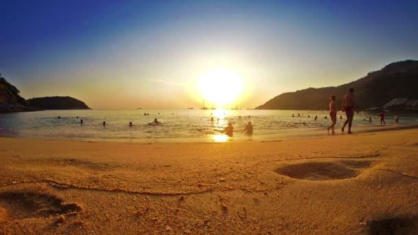 Pláž západ slunce příroda malebný pohled