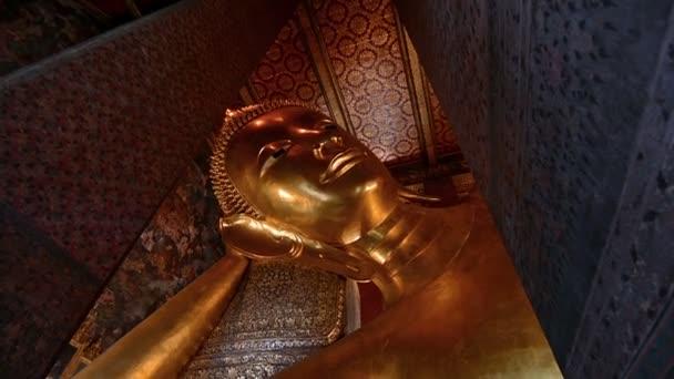 Wat Pho ležící Buddha v Bangkoku, Thajsko. Také známý jako Phra Buddha Saiyas.