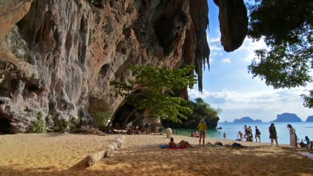 Railay, Thailand. Circa February 2016. Quiet beach with beautiful scenery in a tropical island.