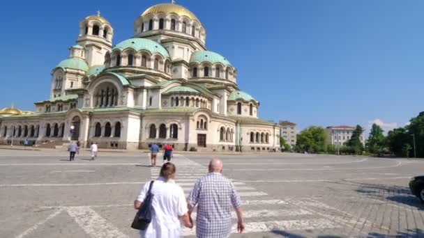 Alexander Nevsky cathedral in Sofia, Bulgaria on a sunny day.
