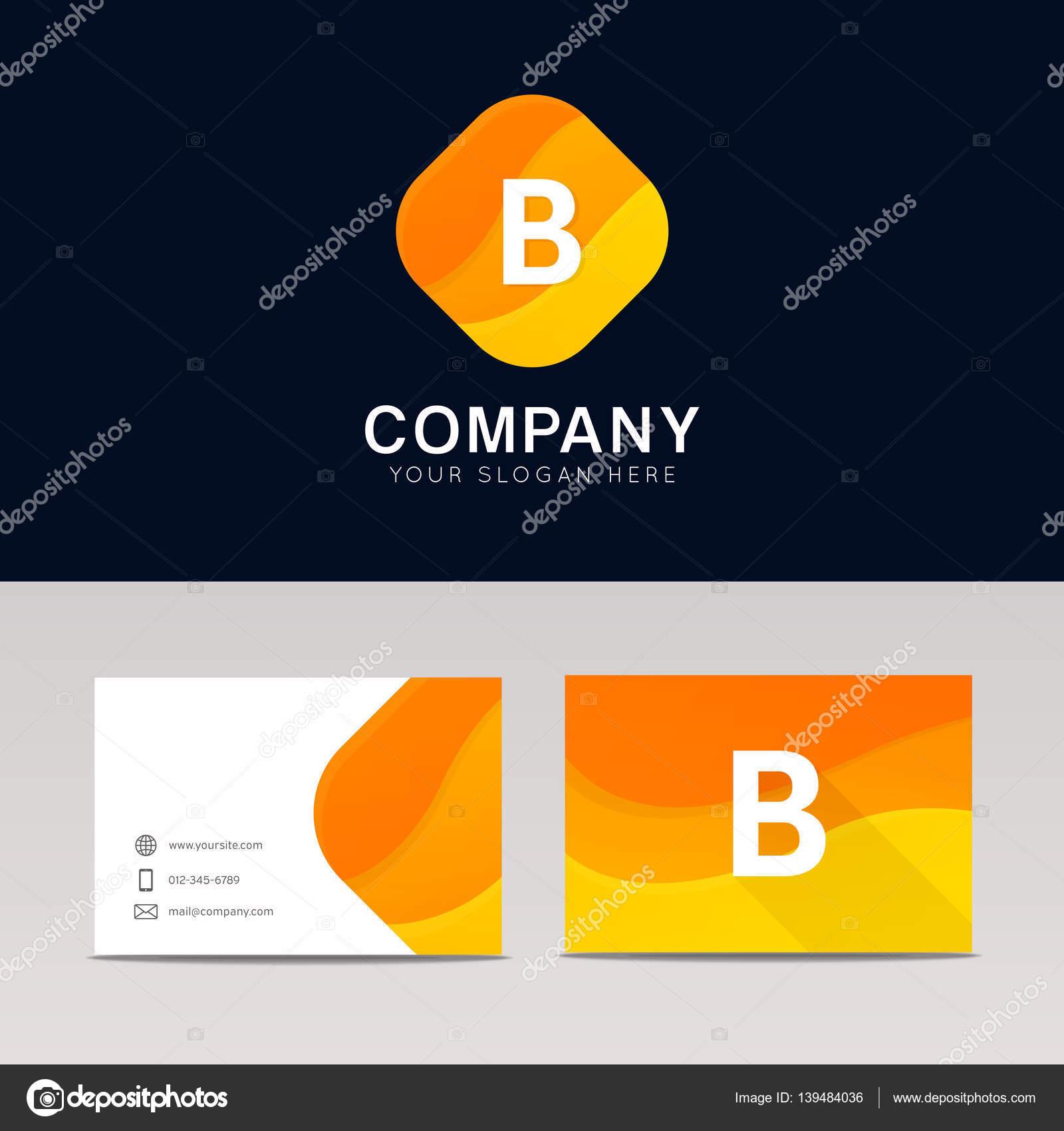 Abstrakte Orange Raute Form B Icon Brief Logo Element Vektor