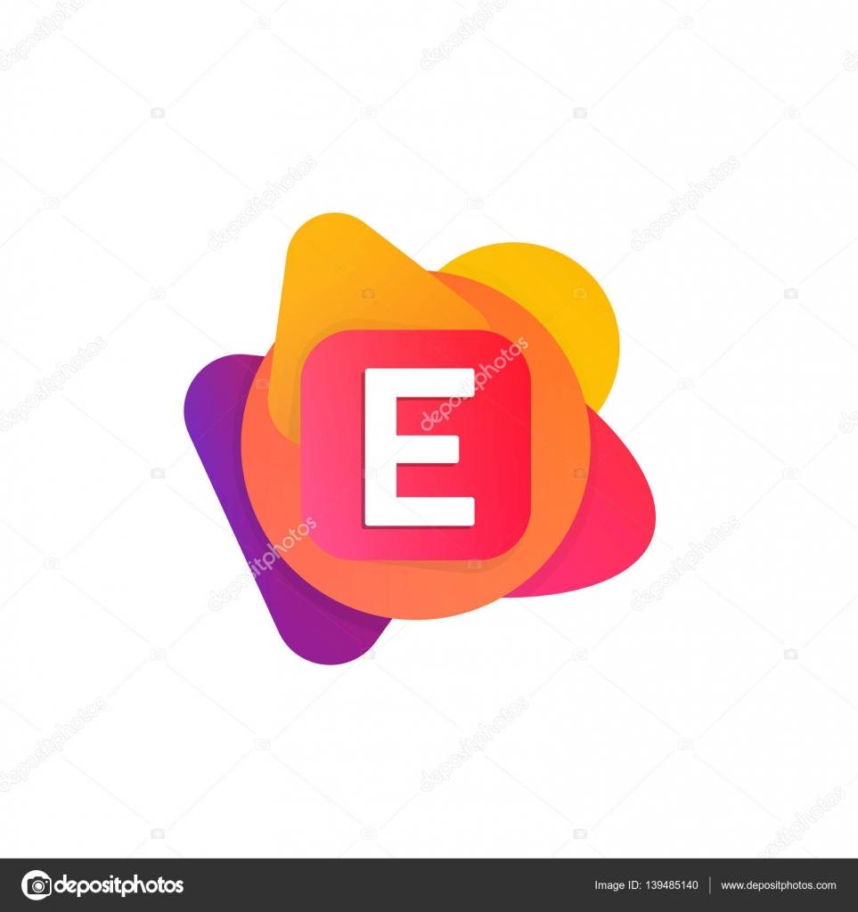 Abstrakte Spaß Gestalten Elemente Firma Logo Schild Symbol E Brief