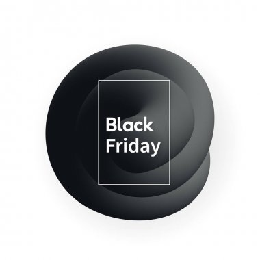Trendy abstract Black Friday banner vector design.