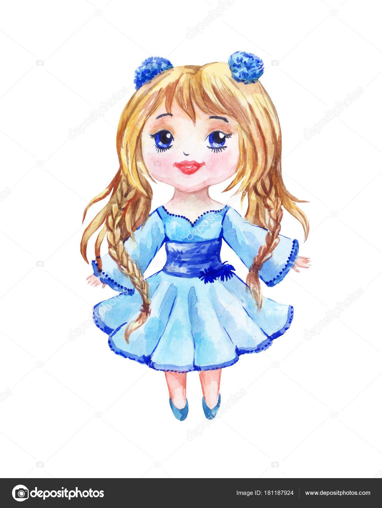 En Azul Vestido Un Chibi Anime Con Una Niña Dos GirlEs UzVpGqSM