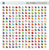 All World Square Corner Vector Flags - Collection