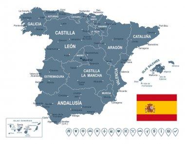 Spain map -illustration