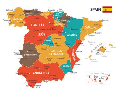 Spain map - illustration