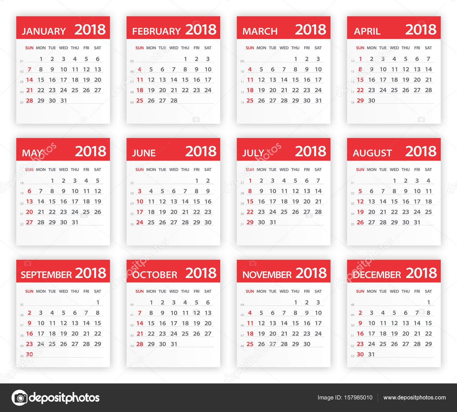 Calendar Red : Calendar red leaves illustration — stock vector