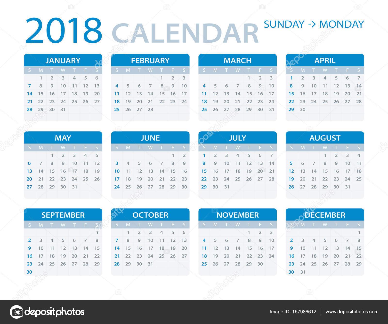 Calendar Illustration : Calendar illustration — stock vector dikobrazik