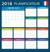 Plánovač 2018 - Francouzská verze