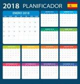 Plánovač 2018 - španělská verze