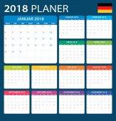 Plánovač 2018 - německá verze