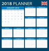 Plánovač 2018 - Anglická verze