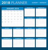 2018 planner - ilustrace