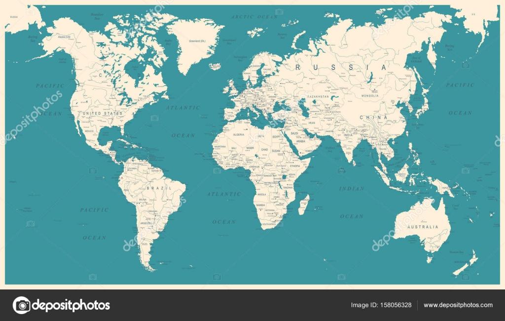 Mapa del mundo vintage ilustracin vectorial vector de stock mapa del mundo vintage ilustracin vectorial vector de stock gumiabroncs Images