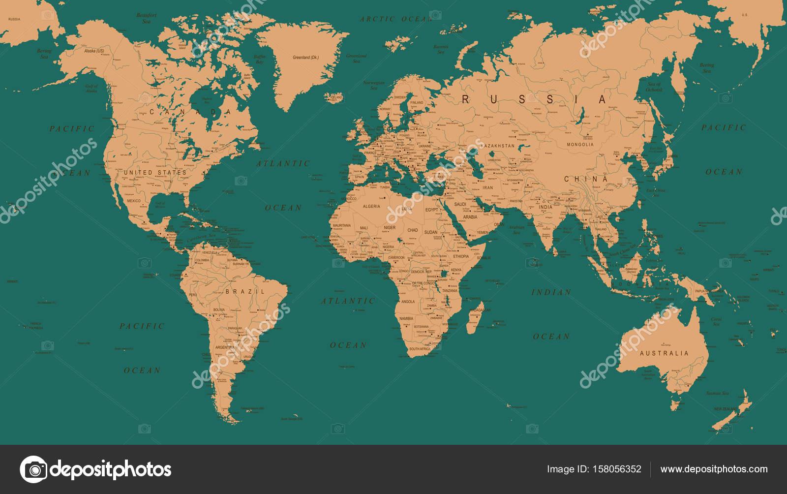 Mapa del mundo vintage ilustracin vectorial archivo imgenes mapa del mundo vintage ilustracin vectorial detallado vector de dikobrazik gumiabroncs Image collections