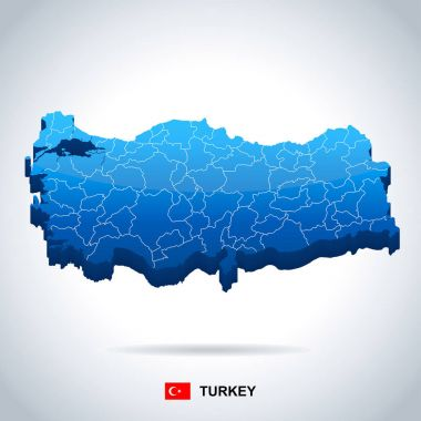 Turkey - map and flag illustration