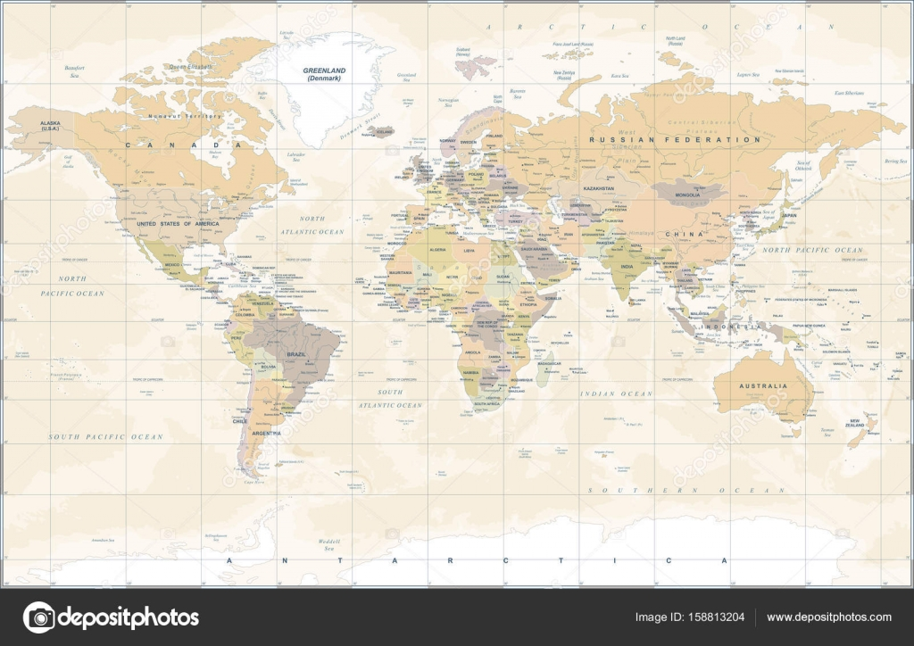 Vintage world map vector illustration stock vector dikobrazik vintage world map vector illustration stock vector gumiabroncs Images