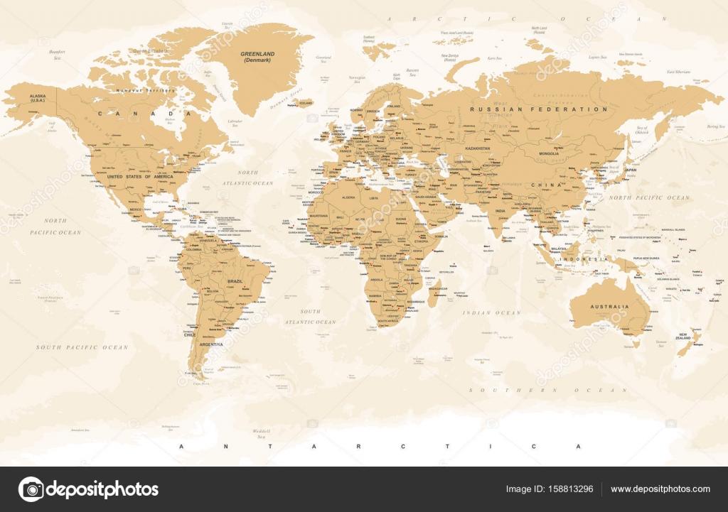 Vintage golden world map vector illustration stock vector vintage golden world map vector illustration stock vector gumiabroncs Gallery
