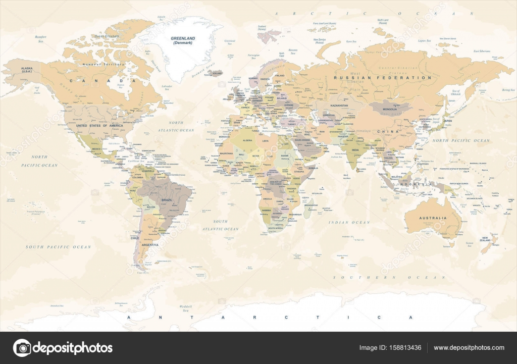 Vintage world map vector illustration stock vector dikobrazik vintage world map vector illustration stock vector gumiabroncs Image collections