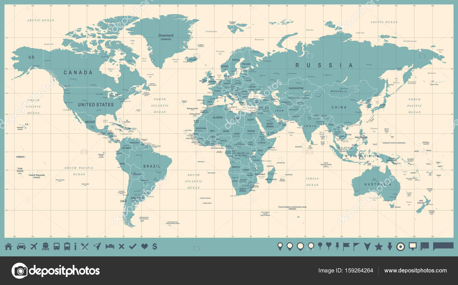 World map vector vintage detailed illustration of worldmap stock world map vector vintage detailed illustration of worldmap stock vector gumiabroncs Image collections