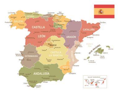 Spain map - Vuntage