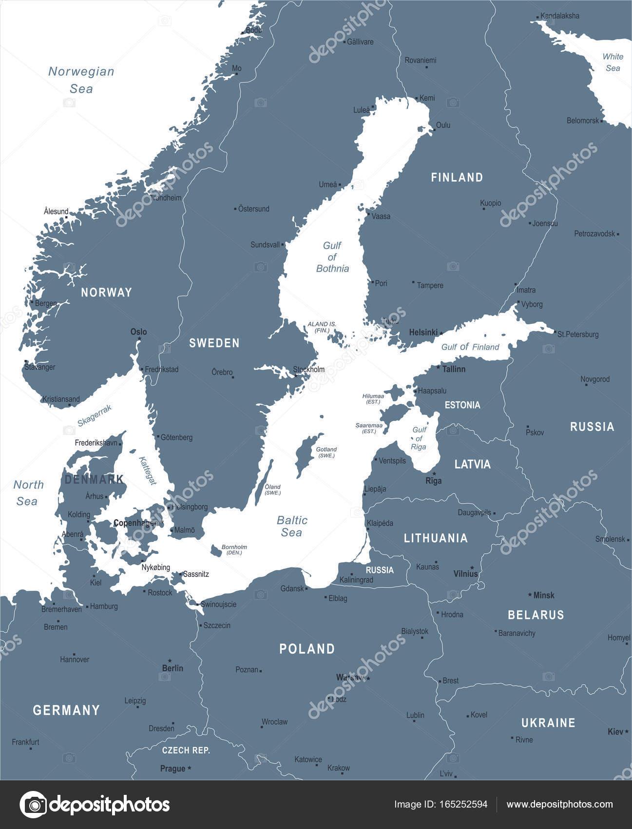 karta östersjön Karta över Östersjön området   vektorillustration — Stock Vektor  karta östersjön