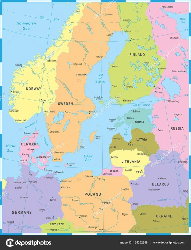 Baltic sea area map vector illustration stock vector baltic sea area map detailed vector illustration vector by dikobrazik publicscrutiny Choice Image