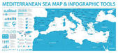 Mediterranean sea Map - Info Graphic Vector Illustration