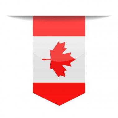 Canada Flag Vector Bookmark Icon